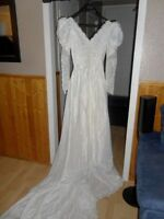WEDDING DRESS ,VEIL, HEAD PIECE (CROWN) & CRINOLINE