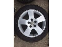 Audi alloys with winter tyres