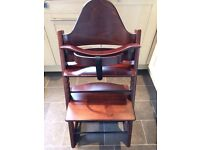 Stokke wooden Tripp Trapp high chair