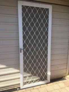 White Aluminum Security Door