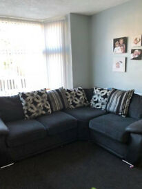 Black Grey Corner Sofa