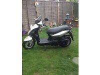 Symply 125 scooter 2010 new battery mot February 2017 full log book mileage is 14551 cb5 £650