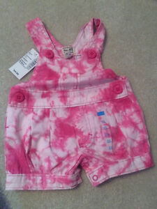 New with tags, girls cotton overalls - tags still on