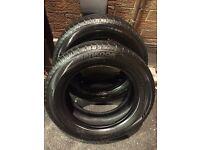 2 partworn Hankook 185/60/15 tyres ** 5.5mm**