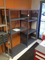 Used Steel Shelving -  very clean - 650lbs cap/shelf