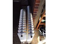 Cast iron vintage radiator with feet