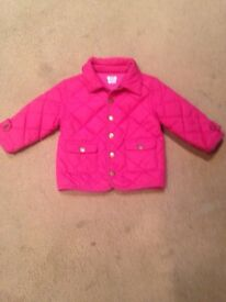 Girls mamas and papas coat age 18-24months