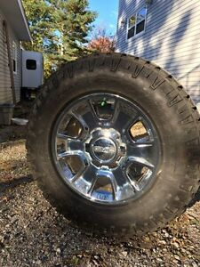 Polished Chrome/Aluminum Alloy Rims & Snow Tires LT275 70 18