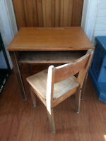 Vintage Child's School Desk and Chair