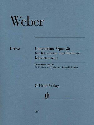 Carl Maria von Weber Concertino Op. 26 Sheet Music  Clarinet and Piano 051480718 Carl Maria Von Weber Clarinet