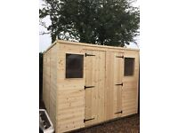 wooden/timber garden sheds
