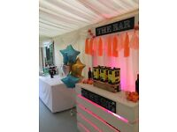 Wooden Bar / Photo Booth Hire - northamptonshire- Party, Wedding, Events