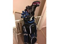 Ping g25 full set of clubs and irons regular shafts