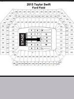 2-6 Taylor Swift  Great Tickets- Ford Field Detroit Sat May 30