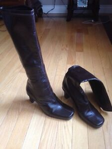 Woman's high brown dressy boots