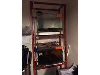 Cube fish tanks 18 l by 18w by 12h