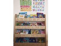 Children's wooden bookcase