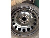 Vauxhall 4 stud spare wheel 185/55/15 brand new tyre