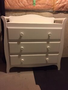 Crib and Change Table/Dresser for sale- White
