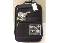 """AIRLINE CARRY-ON BAG 17"""" WHEELED TELE HANDLE NEW UNUSED DUNLOP"""