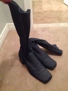 Size 10----Tall Jean Boots  Peterborough Peterborough Area image 1