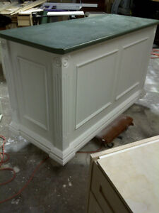 Hand rubbed glazed Kitchen Island