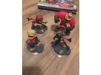 Disney Infinity family of Invincible figures x 4 plays on games consoles