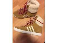 Addidas womans high top trainers