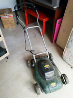 USED YARDWORKS ELECTRIC COMPACT LAWN MOWER - MUST GO!!!