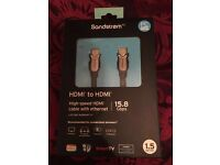 SANDSTROM SILVER 1.5m HDMI CABLE ** 10 AVAILABLE **
