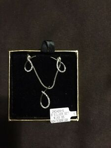 Silver chain, pendant and earring matching set  St. John's Newfoundland image 1