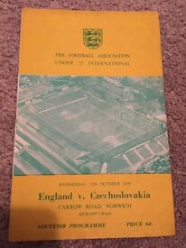 England vs czechoslovakia programme
