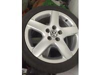 Vw golf mk5 alloy wheels x4 proper vw 17 inch