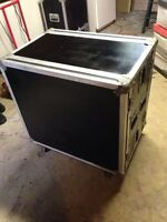 Clydesdale Amp Road Case with 8 space rack
