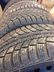 FOUR GRISLAVED WINTER TIRES - 195/55/R15 89T London Ontario image 2