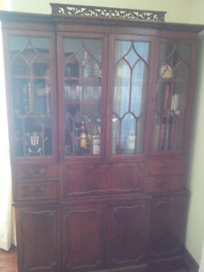 Antique China Cabinet with built-in Secretary