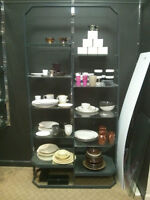 Metal Display Unit with Glass Shelving