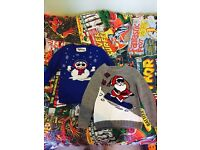 2 x Boys Aged 4-5yrs Christmas Jumpers - Used