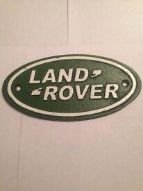 Land Rover cast iron Name badge (RARE)