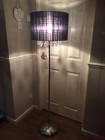 Next jewel floor lamp and table lamp set
