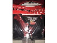 PC Gaming Headphones, Skype,on line chat, NEW