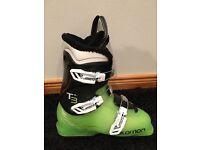 Kids Salomon T3 Ski Boots - Sz 6 - Mondo 24
