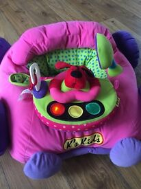 K's kids car with mirror, lights, music and sounds