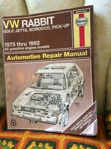 VW  Rabbit Haynes repair manual