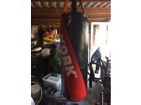 Punch bag and mitts
