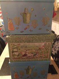 Peter Rabbit storage boxes £10