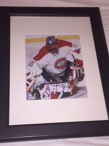 Jose Theodore Autographed Montreal Canadiens 8x10 Framed.