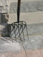 Antique pitch fork