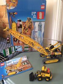 Lego 7632 crane and small digger
