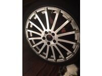 Ford Focus RS Alloy wheel and tyre.